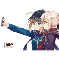 Doujinshi - Fate/Grand Order / Mysterious Heroine X & Mysterious Heroine X (Alter) (宇宙人とチョコレート) / VISTA