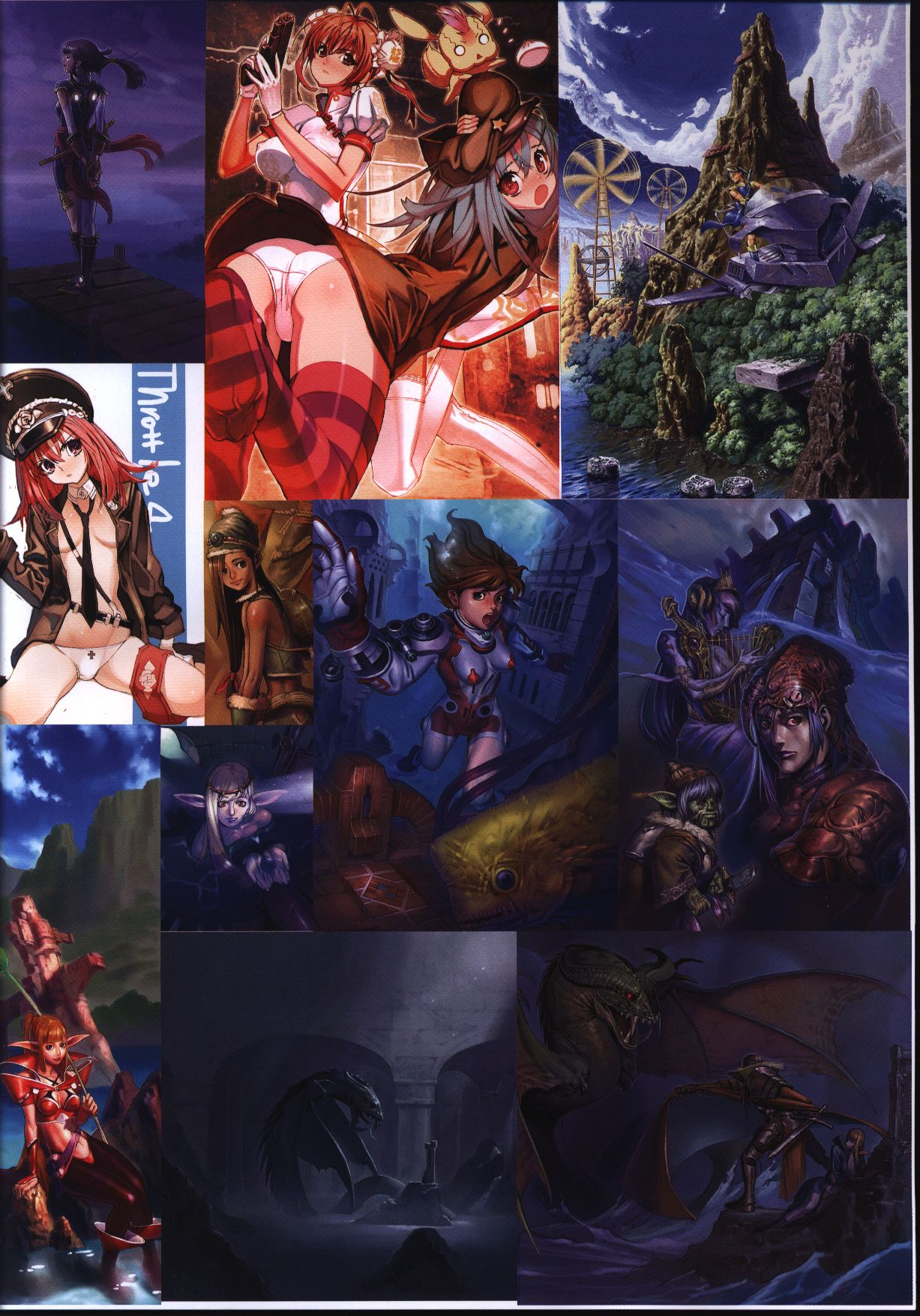 [Adult] Doujinshi - Illustration book - Throttle/4 PRIME? 1995-C73-C79 compilation / Throttle/4