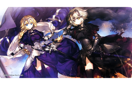 Card Game Playmat - Fate/Grand Order / Jeanne d'Arc & Jeanne d'Arc (Alter)