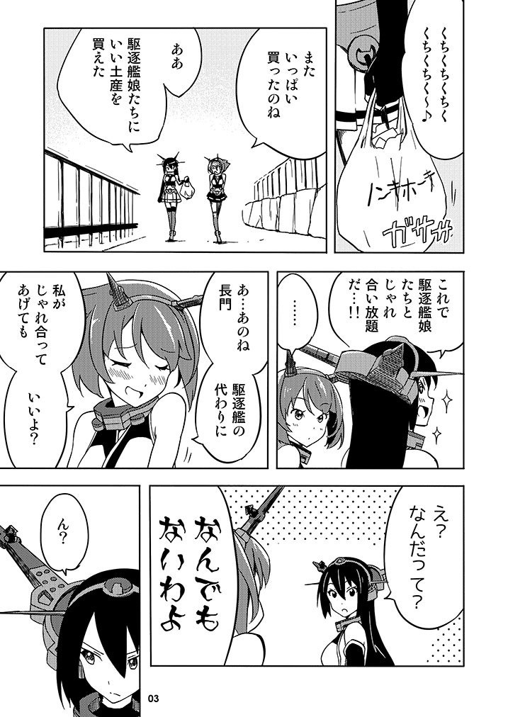 Doujinshi - Kantai Collection / Mutsu & Nagato (ちくちくくちく) / Singerly