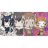 Cushion Cover - Kemono Friends / Black-tailed Prairie Dog & Gray Wolf