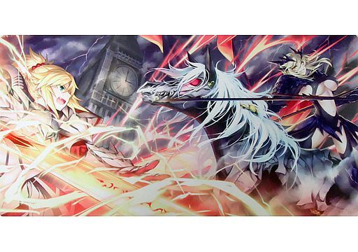 Card Game Playmat - Fate/Grand Order / Mordred & Artoria Pendragon (Lancer Alter)