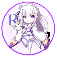 Stickers - Re:Zero / Emilia
